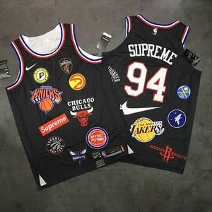 SUPREME X NIKE NBA BASKETBALL JERSEY SIZE LARGE